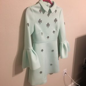 0afeccf8db0 ASOS Dresses - • ASOS Mint scuba embellished a-line mini dress •